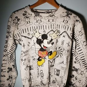 Vintage Rune Mickey Mouse Sweater